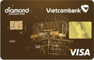 Thẻ Tín Dụng Quốc Tế Đồng Thương Hiệu Vietcombank Diamond Plaza Visa