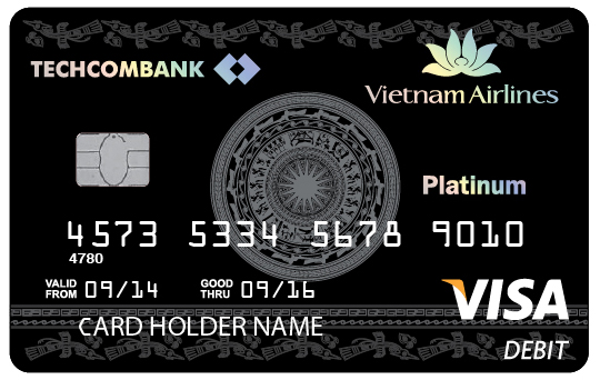 Thẻ đồng thương hiệu Vietnam Airlines Techcombank Visa Platinum