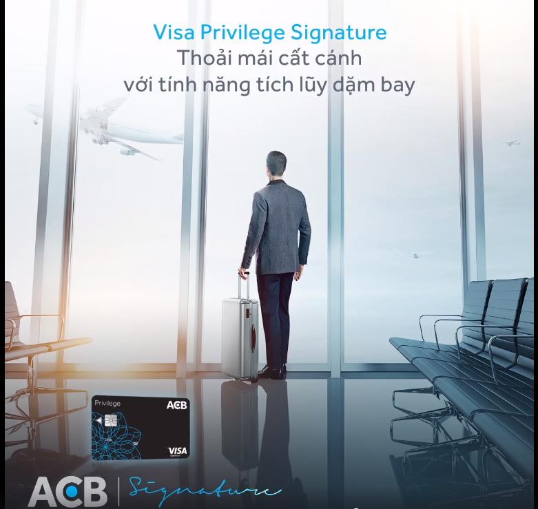 Thẻ tín dụng quốc tế ACB Visa Signature