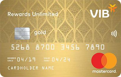 Thẻ tín dụng VIB Rewards Unlimited